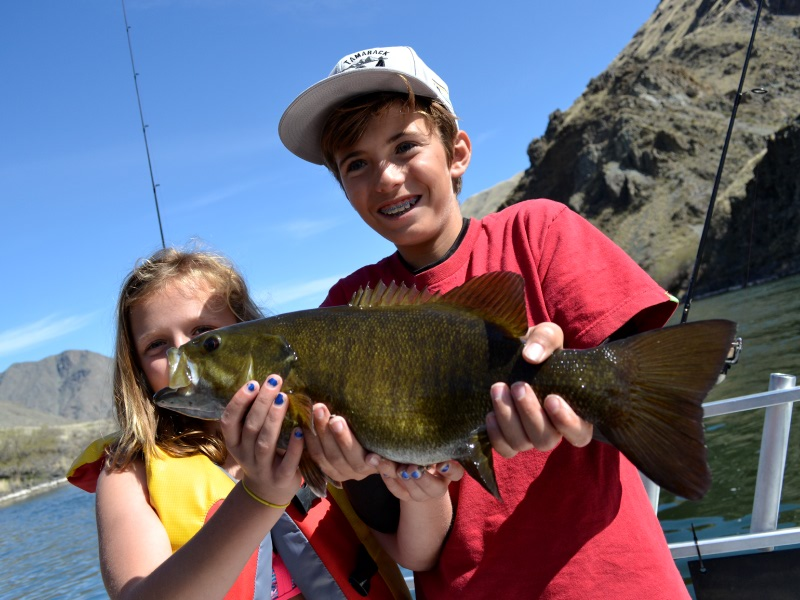 snake river bass fishing with the family