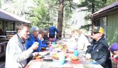 idaho outdoor adventure lodge dinning